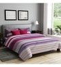 Red Poly Cotton Queen Size Bedsheet - Set of 3 by Rago