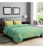 Turquoise Cotton Queen Size Bedsheet - Set of 3 by Rago