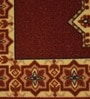Raj Overseas Brown Nylon 22 x 55 Inch Printed Crown Diamond Bedside Runner