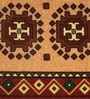 Raj Overseas Brown Nylon 55 x 22 Inch Printed Round Cross Bedside Runner