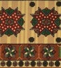 Raj Overseas Brown Nylon 55 x 22 Inch Printed X Diamond Bedside Runner