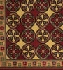 Raj Overseas Brown Nylon 75 x 22 Inch Printed Geometric Bedside Runner