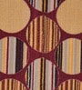 Raj Overseas Multicolour Nylon 55 x 22 Inch Printed Striped Circles Bedside Runner