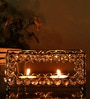 Rajrang Silver Crystal Two Bowl Candle Holder