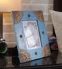 Rajrang Blue Wood & Metal Vintage Hand Painted Photo Frame