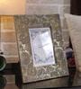Rajrang Brown Wood & Metal Paisley Embossed Photo Frame