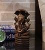 Rajrang Brown Wooden Lord Ganesha Hand Carved Handicraft