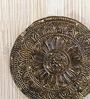 Rajrang Gold & Cream Wooden Vintage Pattern Polished Key Holder