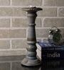 Rajrang Grey Wood & Metal Vintage Hand Painted Candle Holder