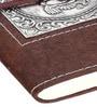 Rajrang Dark Brown Paper Elegant Handmade Ganesha Diary