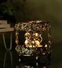 Rajrang Silver Crystal Abstract Candle Holder