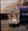 Rajrang Silver Glass, Crystal & Metal Designer Hand Made Candle Holder