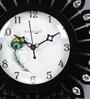 Random Black Wood & MDF 12 x 2 x 12 Inch Dancing Peacock Wall Clock