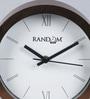 Random Copper Plastic 6.5 x 2 x 6.5 Inch Wall Clock
