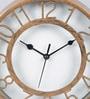 Random Copper Plastic 8 x 1.5 x 8 Inch Antique Table Clock