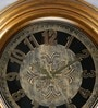 Random Golden Plastic 20 Inch Round Beauty Antique Wall Clock