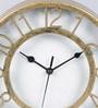 Random Golden Plastic 8 x 1.5 x 8 Inch Antique Table Clock