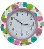 Rang Rage Aqua Floral Handpainted Round Clock