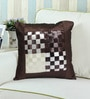 Rang Rage Brown Poly Silk 16 x 16 Inch Cushion Cover