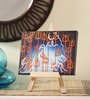 Canvas 8 x 1 x 6 Inch Classy Divine Shiva Stretched Framed Painting with Easel Stand by Rang Rage