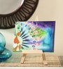Canvas 8 x 1 x 6 Inch Funky Fluid Grace Stretched Framed Painting with Easel Stand by Rang Rage