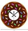 Rang Rage Color Fun Handpainted Round Clock