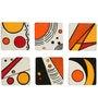 Rang Rage Hand-painted Abstract Universe Coaster Set