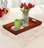Rang Rage Handpainted Brunt Curved Wood Tray