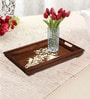 Rang Rage Handpainted Classic Motif White Wood Tray