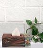 Rang Rage Handpainted Madhubani Aqua Multicolour Wood Tissue Box