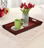 Rang Rage Handpainted Rustic Brown Wood Tray