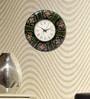 Rang Rage Multicolour MDF 12 Inch Round Floral Garden Round Wall Clock