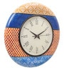 Rang Rage Multicolour MDF 16 Inch Classy Mughal Hand Painted Round Wall Clock