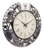Multicolour MDF 16 Inch Monochrome Classic Hand Painted Round Wall Clock by Rang Rage