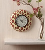 Multicolour MDF 9 Inch Ikat Excellence Hand Painted Round Wall Clock by Rang Rage