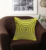Rang Rage Lime Poly Silk 16 x 16 Inch Circle Cushion Cover