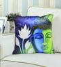 Rang Rage Multicolour Poly Silk 16 x 16 Inch Cushion Cover