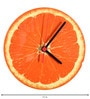 Rang Rage Orange Handpainted Round Clock