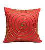 Rang Rage Orange Poly Silk 16 x 16 Inch Cushion Cover