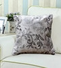 Rang Rage Silver Poly Silk 16 x 16 Inch Cushion Cover