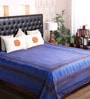 Blue Cotton King Size Bedsheet - Set of 3 by RangDesi