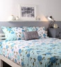 Blue Cotton King Size Bed sheet - Set of 3 by Raymond Home