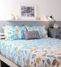 Raymond Home Blue Cotton King Size Bed sheet - Set of 3