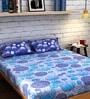 Raymond Home Blue Cotton Queen Size Bedsheet - Set of 3