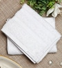 Bluebell Plus White Cotton Towel by Raymond Home