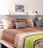 Raymond Home Brown Cotton King Size Bed sheet - Set of 3