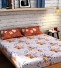 Brown Cotton Queen Size Bedsheet - Set of 3 by Raymond Home