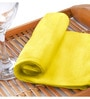 Flyer Yellow Cotton Hand Towel Set by Raymond Home