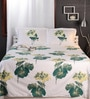 Raymond Home Greens Nature & Florals Cotton King Size Bed Sheets - Set of 3