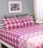 Raymond Home Pink Cotton Queen Legend Bed sheet with 2 Pillow Covers